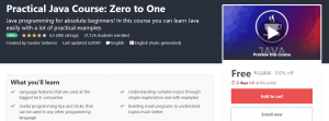 Practical Java Course Zero to One   Free Udemy Course   Free Online Course
