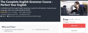 The Complete English Grammar Course Perfect Your English   Massive Online Course   Free Online Course