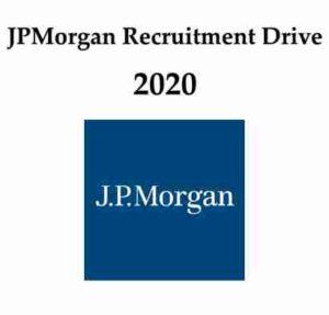 JPMorgan Recruitment Drive 2020 | JPMorgan Hiring Software Engineer | JPMorgan Recruitment Process