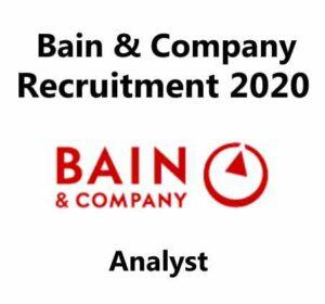 Bain & Company Recruitment 2020 | Bain & Company Careers | Analyst