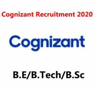 Cognizant Recruitment 2020 | Programmer Analyst Trainee | B.E/B.Tech/B.Sc