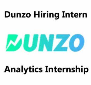 Dunzo Hiring Intern | Dunzo Careers 2020 | dunzo internship | Analytics