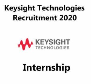 Keysight Technologies Recruitment 2020   Internship   Intern Tech