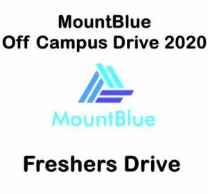 MountBlue Off Campus Drive 2020   MountBlue Hiring Freshers   MountBlue Careers