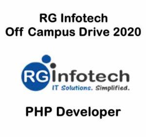 RG Infotech Off Campus Drive 2020 | RG Infotech Careers | RG Infotech