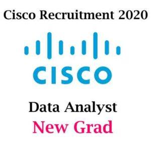 Cisco Recruitment 2020 For Data Analyst | Cisco Hiring Data Analyst
