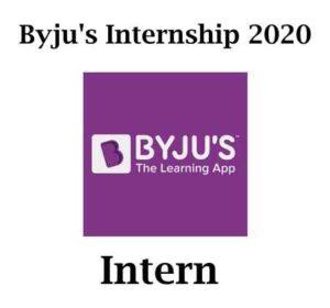 Byju's Internship Program 2020 | Byju's Internship