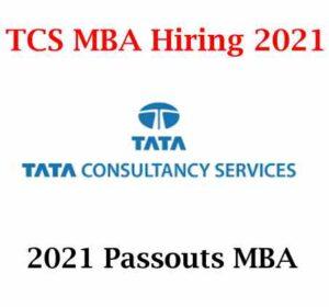 TCS MBA Hiring 2021 | TCS MBA Off Campus Drive 2021