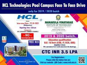 HCL Technology Pool Off Campus Drive 2021 | 2019-2020 Batch | Freshers
