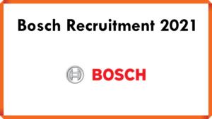 Bosch Recruitment 2021 | Associate Software Engineer | Bangalore | B.E/ B.Tech Freshers Only