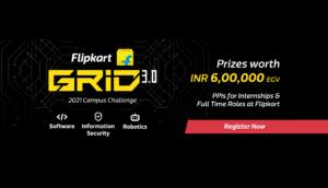 Flipkart GRiD 3.0 Software Development Challenge 2021   26.57 LPA   Batch 2022,2023,2024,2025