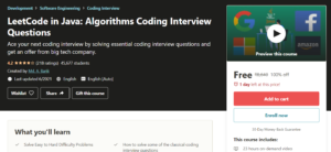 LeetCode in Java: Algorithms Coding Interview Questions FREE | Free Java Course