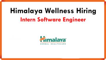 Himalaya Wellness Hiring Intern Software Engineer