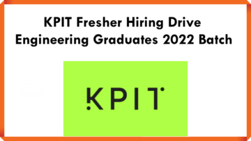 KPIT Fresher Hiring Drive