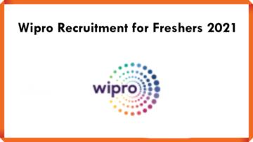 Wipro Recruitment for Freshers 2021